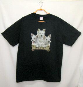 ウエスティー (BIS) tシャツ 半袖 カットソー 丸首型 クルーネック 綿100% コットン トップス 服 レディース メンズ シンプル かわいい おしゃれ イベント お揃い ドッグ 犬 犬柄 いぬ 犬プリン