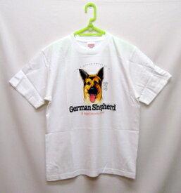 ジャーマンシェパード柄の半袖Tシャツです