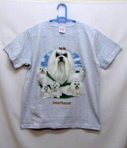 マルチーズ (集合) tシャツ 半袖 カットソー 丸首型 クルーネック 綿100% コットン トップス 服 レディース メンズ シンプル かわいい おしゃれ イベント お揃い ドッグ 犬 犬柄 いぬ 犬プリン