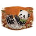 パンダ柄の半袖Tシャツです。(21−L)記念品/プレゼント/ギフト/オーナーグッズ/プリント/野生動物