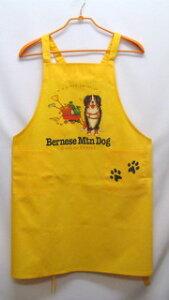バーニーズマウンテンドッグ カラー エプロン(マンガ) バッククロス X型 たすき掛け おしゃれ かわいい 保育士 ワークエプロン 料理教室 犬柄 ドッグ 犬 イヌ 動物 オーナーグッズ プリン