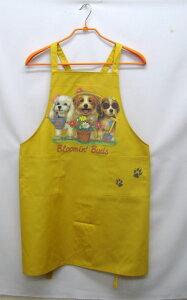 ドッグフレンド カラー エプロン(プードル・ビーグル) バッククロス X型 たすき掛け おしゃれ かわいい 保育士 ワークエプロン 料理教室 犬柄 ドッグ 犬 イヌ 動物 オーナーグッズ プリン