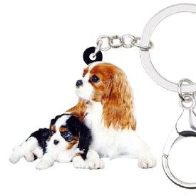 キャバリア キーホルダー キャバリアグッズ アクリル 犬 いぬ イヌ dog 犬種別 犬雑貨 オーナーグッズ かわいい 輸入 キーチェーン プリント