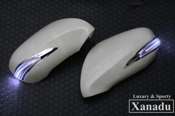 LEXUS LS460 LS600 純正交換式 LED ドアミラーウインカーレンズ 【塗装済】【デイランプ:ホワイト】 AVEST