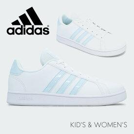 adidas アディダスEG1994GRANDCOURT Kグランドコートレディース キッズ ジュニア スニーカー テニス 運動靴