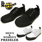 Dr.Martensドクターマーチン2195100121951600PRESSLERプレスラーユニセックスメンズレディーススニーカーローカットシューズレースアップ紐靴綿カジュアル男性女性男女兼用プレゼントギフト