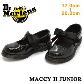 ドクターマーチン 正規品 Dr.Martens21776001MACCY 2 JUNIORマッキー 2 ジュニアキッズ ジュニア 子供靴 リボン マジックテープ フォーマル