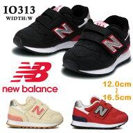 newbalanceニューバランスIO313キッズジュニア子供靴スニーカーワイズ:Wマジックテープ