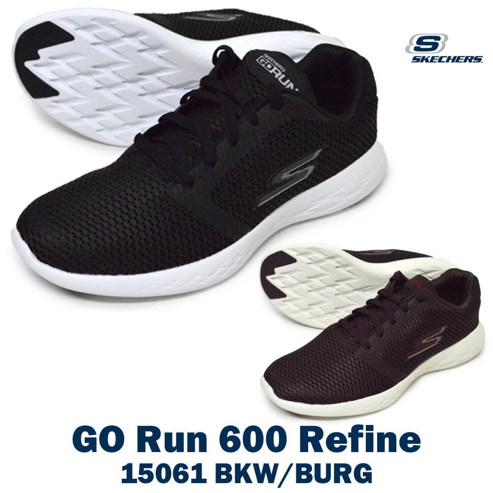 SKECHERSスケッチャーズ15061GO Run 600 Refineゴー ラン 600 リファインレディース スニーカー ローカット シューズ 紐靴 運動靴 ランニング ジョギング ウォーキング トレーニング ダイエット 婦人靴