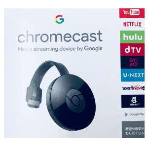 ★Google CHROMECAST2 GA3A00133A16Z01 クロームキャスト2 お持ちの端末からテレビにエンターテイメントをストリーミング! iPhone iPad Android 搭載のスマートフォンやタブレット、Mac または Windows 搭載のパソコン、Chromebookに対応 Chromecast GA3A00133A16Z01