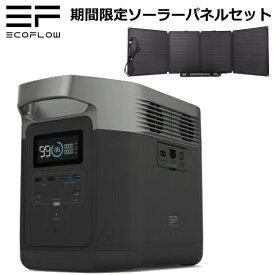 【期間限定お買い得セット】エコフロー Ecoflow ポータブル電源 容量1260Wh 世界最高速クラスの急速充電 最大13デバイスへ同時給電可能 2年間の長期保障、日本国内サポート EFDELTA1300-JP プラス EcoFlow 110 ソーラーパネルセット