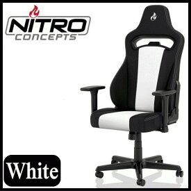 ゲーミングチェア Nitro Concepts E250 ホワイト アーキサイト NC-E250-BW 耐荷重125kg アームレスト ネックピロー ランバーサポート付属 スチール素材 送料無料 NC-E250 NCE250BW