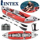 Intex Excursion Pro 68309 Aufblasbar Kayak 2 Personen ゴムボート 2人用 カヤック 二人乗り 384cm×94cm× 46cm 最大総重量181kg フィッシング トラウト 湖 ボート カヤック フィッシング インフレータブル ゴムボート キャンプ カヌーエクスカージョン プロ