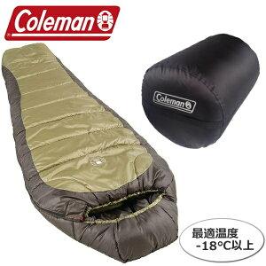 Coleman コールマン 寝袋 マミー型シュラフ 耐冷温度-18℃ 丈夫なポリエステル素材で耐久力アップ!81.3cm×208.3cm でゆったりサイズ スリーピングバック ねぶくろ 専用収納袋付