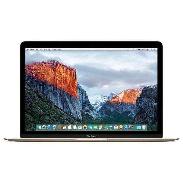 ★ Apple アップル MacBook MNYK2J/A ゴールド 12インチ Retinaディスプレイ SSD256GB 1200/12 Intel Core m3 マックブック ノートパソコン MNYK2JA