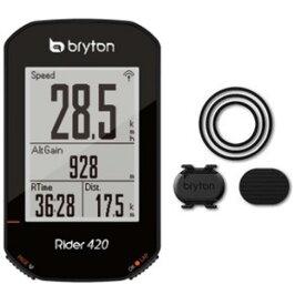送料無料 BRYTON(ブライトン) GPSサイクルコンピューター Rider420C ケイデンスセンサー付 【自転車用品】【メーカー純正品】【正規代理店品】