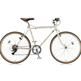 【キャッシュレス5%還元対象店】ブリヂストン クロスバイク クエロ(CHERO) 650F CHF648 E.Xクリームアイボリー 【2018年モデル】【完全組立済自転車】