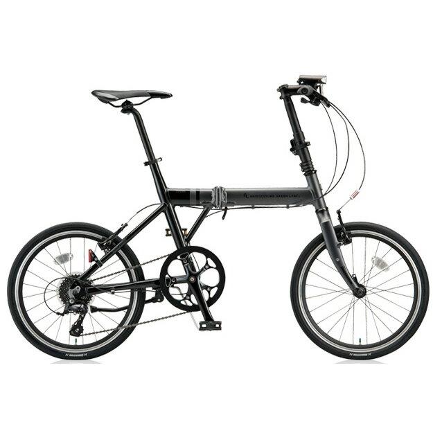 ブリヂストングリーンレーベル 折りたたみ自転車 CYLVA(シルヴァ) F VF8F20 マットグロスブラック 20サイズ 【2018年モデル】【完全組立済自転車】