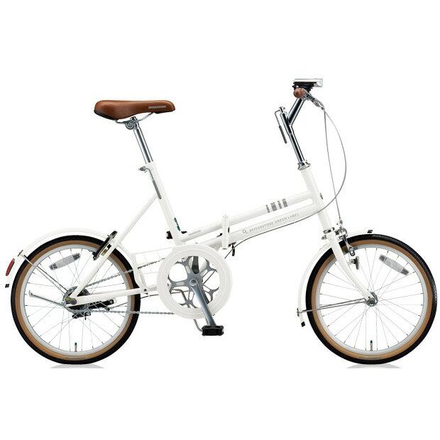 ブリヂストン 折りたたみ自転車 マークローザ F MRF81 P.Xスノーホワイト 変速なし 【2018年モデル】【完全組立済自転車】