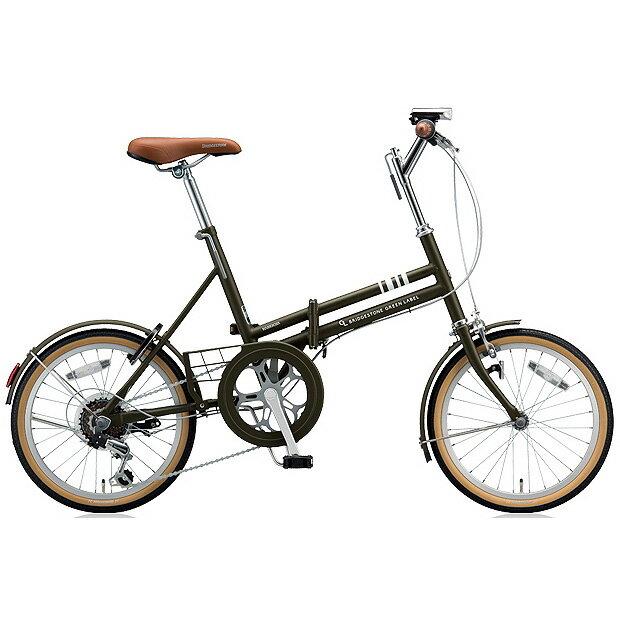 ブリヂストン 折りたたみ自転車 マークローザ F MRF86 T.Xマットカーキ 6段変速 【2018年モデル】【完全組立済自転車】