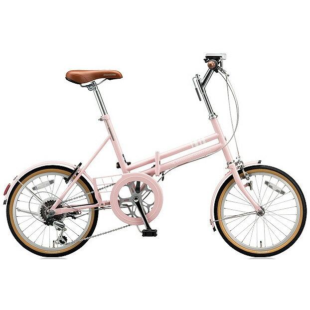 ブリヂストン 折りたたみ自転車 マークローザ F MRF86 E.Xサンドピンク 6段変速 【2018年モデル】【完全組立済自転車】