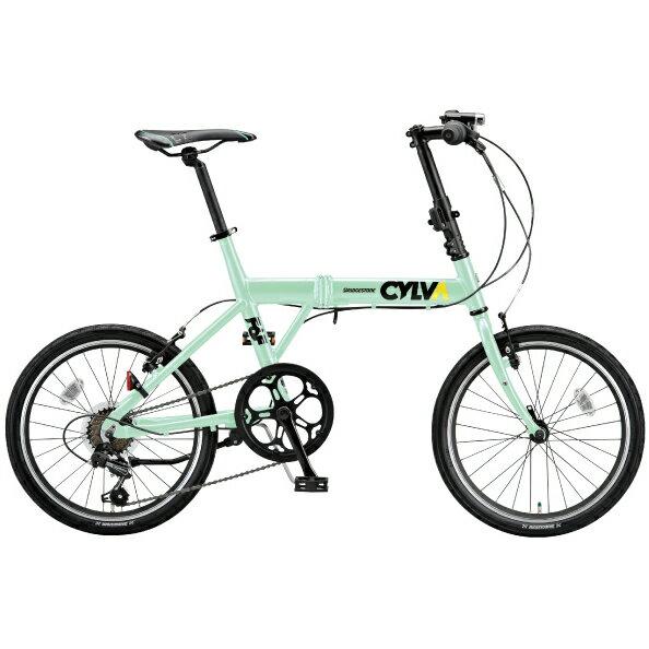 ブリヂストングリーンレーベル 折りたたみ自転車 CYLVA (シルヴァ) F6F206 E.Xミストグリーン 20インチ【2016年モデル】