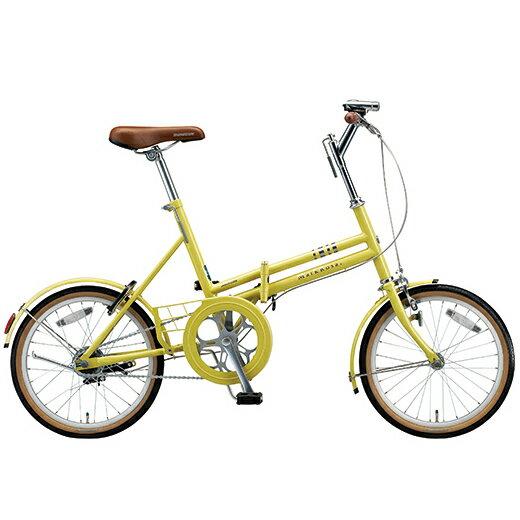 ブリヂストングリーンレーベル 折りたたみ自転車 マークローザ(MarkRosa) F M80F5 E.Xシトロンイエロー 変速なし 【2016年モデル】【完全組立済自転車】