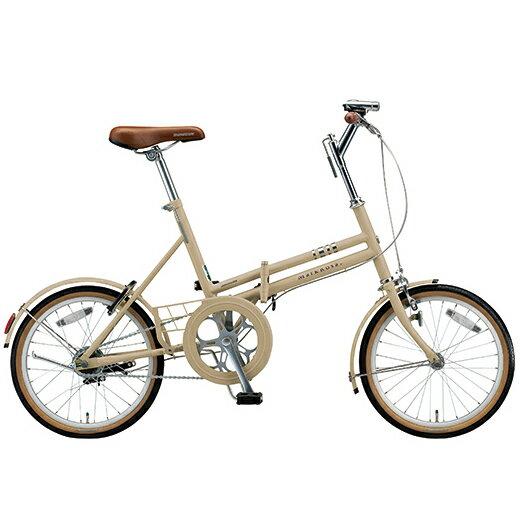 ブリヂストングリーンレーベル 折りたたみ自転車 マークローザ(MarkRosa) F M86F5 T.Xサンドベージュ 6段変速 【2016年モデル】【完全組立済自転車】