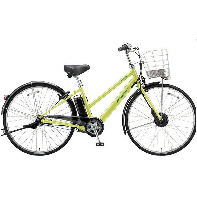 ブリヂストン アルベルト e S型 AS7B48 T.ネオンライム 27インチ 電動自転車【2018年モデル】【完全組立済自転車】