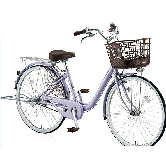 ブリヂストン(BRIDGESTONE) シティサイクル アルミーユベルト AU60BT P.Xオパールラベンダー 26インチ変速なし 点灯虫(オートライト)ランプ 【2017年モデル】【完全組立済自転車】