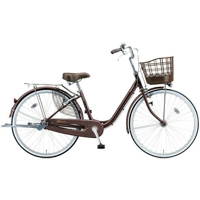 ブリヂストン(BRIDGESTONE) シティサイクル アルミーユ AU60T F.Xカラメルブラウン 26インチ変速なし 点灯虫(オートライト)ランプ 【2017年モデル】【完全組立済自転車】