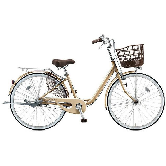 ブリヂストン(BRIDGESTONE) シティサイクル アルミーユベルト AU63BT M.Xプレシャスベージュ 26インチ3段変速 点灯虫(オートライト)ランプ 【2017年モデル】【完全組立済自転車】