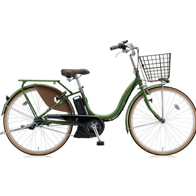 ブリヂストン アシスタファイン A6FC18 E.Xナチュラルオリーブ 26インチ3段変速 電動自転車【2018年モデル】【完全組立済自転車】