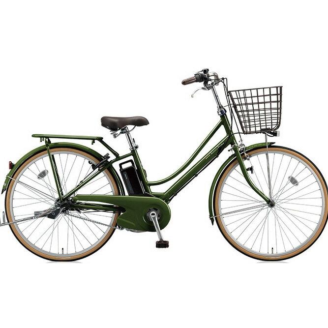 ブリヂストン アシスタプリマ A6PD18 E.Xダークオリーブ 26インチ 3段変速 電動自転車【2018年モデル】【完全組立済自転車】