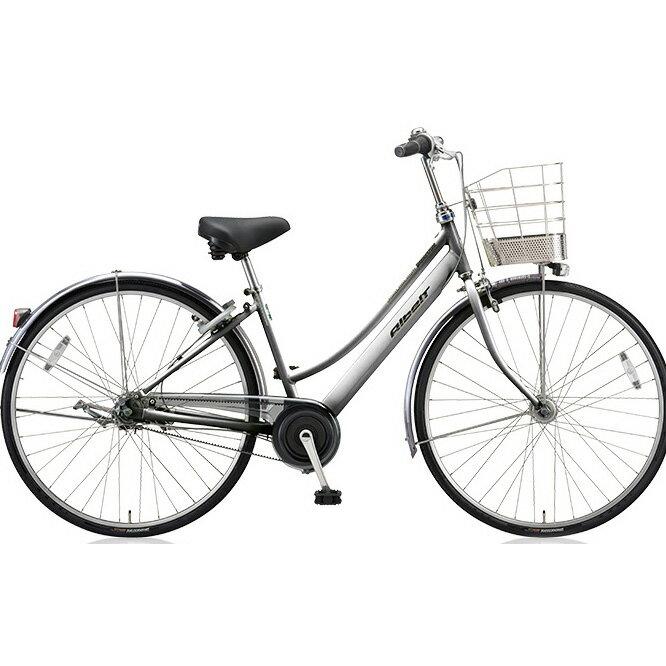 ブリヂストン(BRIDGESTONE) シティサイクル アルベルト L型 ABL65 M.スパークルシルバー 26インチ5段変速 【2018年モデル】【完全組立済自転車】
