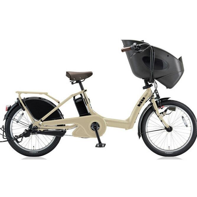 ブリヂストン ビッケポーラー(bikke POLAR) e BP0D38 T.レトログレージュ 子供乗せ自転車【2018年モデル】【完全組立済自転車】