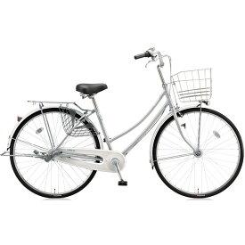 【キャッシュレス5%還元対象店】【即納可能】ブリヂストン シティサイクル スクリッジ W型 SR70WT M.XRシルバー 27インチ変速なし 点灯虫ランプ 【2018年モデル】【完全組立済自転車】