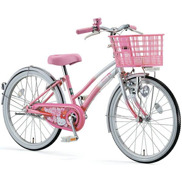 ブリヂストン(BRIDGESTONE) ハローキティ 22インチ KTY22 ピンク/ホワイト 少女車 【完全組立済 自転車】