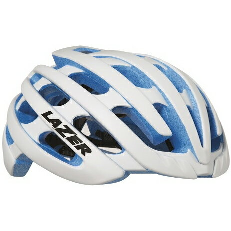 【送料無料】 LAZER(レイザー) サイクルヘルメット Z1 ホワイト/ブルーEPS Lサイズ