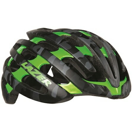 【送料無料】 LAZER(レイザー) サイクルヘルメット Z1 マットブラックカモ/フラッシュグリーン Mサイズ