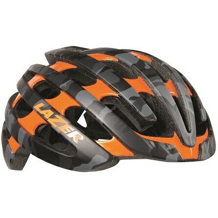 【送料無料】 LAZER(レイザー) サイクルヘルメット Z1 マットブラックカモ/フラッシュオレンジ Sサイズ