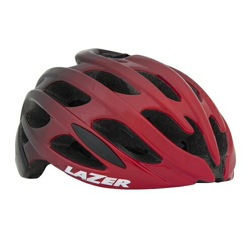 送料無料 LAZER(レイザー) サイクルヘルメット Blade AF(アジアンフィット) レッド/ブラック L(58-61cm)