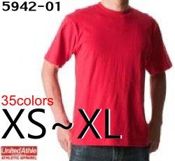6.2オンスヘビーウェイト無地半袖TシャツS〜XL【ユナイテッドアスレ】【United Athle】【5942-01】【メンズ】