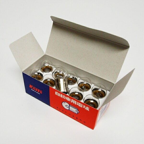 自動車用電球のトップメーカー小糸製 24V-12W クリアー 耐震球 箱入(10個)