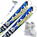 スワロー (SWALLOW) スキー4点セット キッズ ジュニアスキー ROTACION QUATORE ロタシオンキャトレJr 70/80/90/100/11...