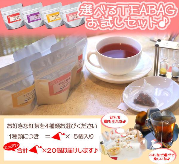 紅茶 ティーバッグ 詰め合わせ選べる20個ティーバッグ♪手早く簡単でおいしいティーバッグがたっぷり20個!メール便:送料無料【RCP】05P06Aug16【HLS_DU】
