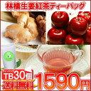 紅茶 ティーバッグ「アップルジンジャー紅茶TB30個入り」フルーツTB 送料無料!【メール便:送料無料】
