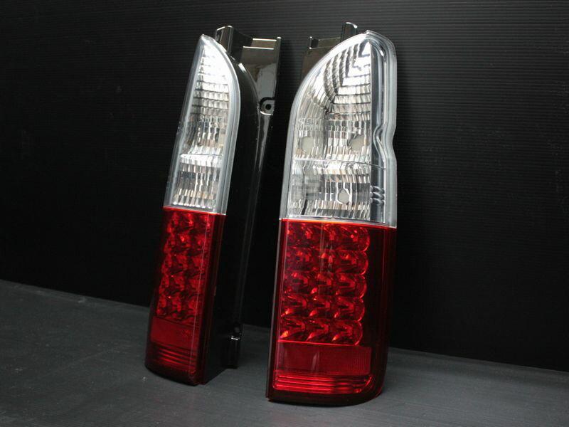 200系ハイエース LEDユーロテール クリスタル/レッド
