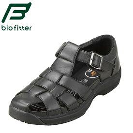 [バイオフィッター スタイリッシュフォーメン] Bio Fitter BF-3906 メンズ | レザーサンダル | スニーカーサンダル | 接触冷感 | オフィス サンダル | 軽量 カップインソール | 小さいサイズ 対応 24.0cm 24.5cm | ブラック SP