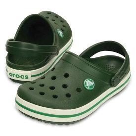 [マラソン中ポイント5倍][クロックス] crocs 10998 キッズ ジュニア | クロッグサンダル | crocband™ kids | クロックバンド™ キッズ | 子供靴 男の子 女の子 | フォレストグリーン SP
